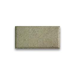 Тротуарная плитка «Кирпич» на белом цементе - белая