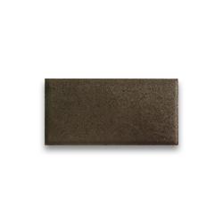 Тротуарная плитка «Кирпич» на белом цементе - коричневая
