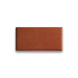 Тротуарная плитка «Кирпич» на белом цементе - красная