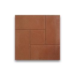 Тротуарная плитка «Кирпичик» - красная