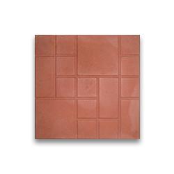 Тротуарная плитка «Шоколадка» - красная