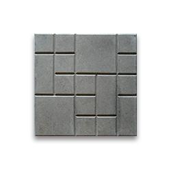 Тротуарная плитка «Шоколадка» - серая