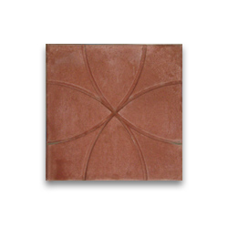 Тротуарная плитка «Солнышко» - красная